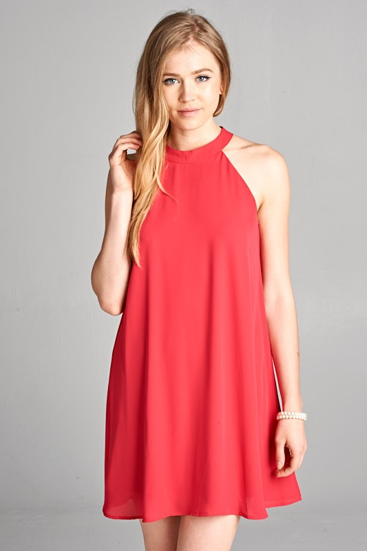Cranberry Crush Shift Dress