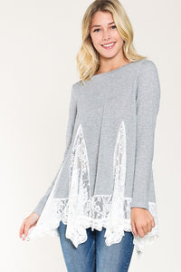 French Terry Lace Tunic
