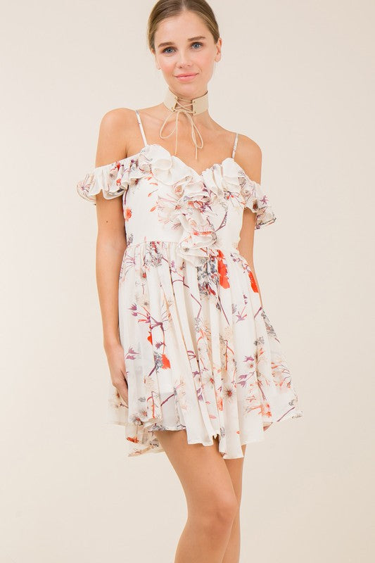 Always In Bloom Floral Romper