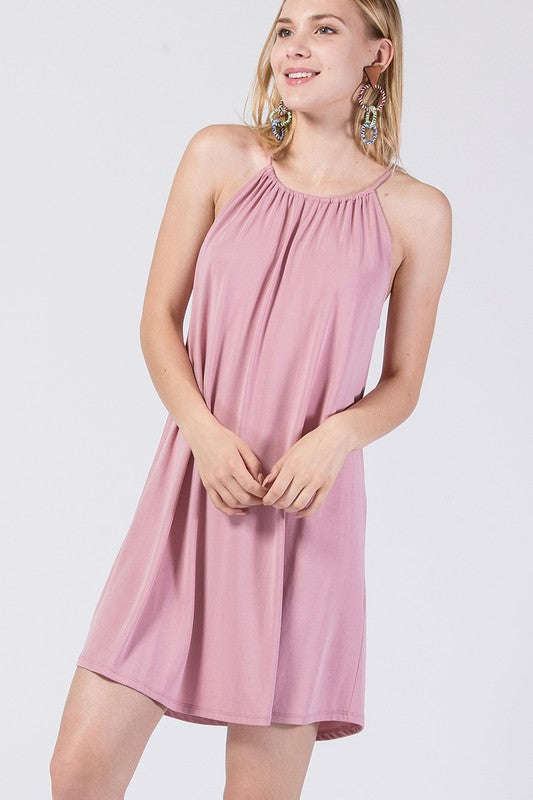Basic Dusty Rose Dress