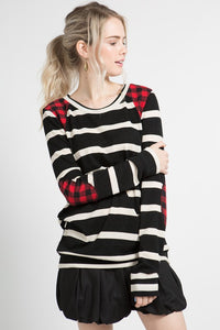 Checkers and Stripes Top