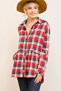 Plaid and Simple Red