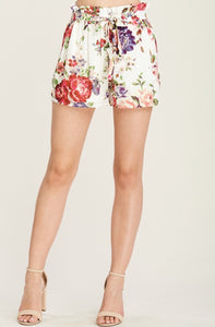 Ruffle top floral shorts