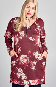 Flawless in Floral Tunic