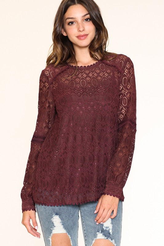 Burgandy Lace