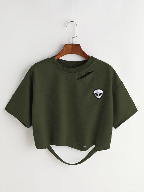 Tricou Alien Patch