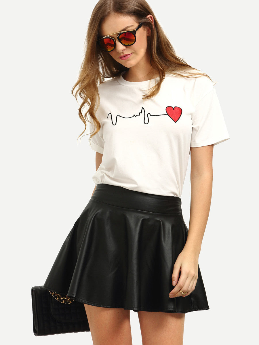 Tricou Red Heart