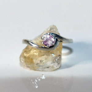 Legendary Tiny Rose Tourmaline Pink Ring