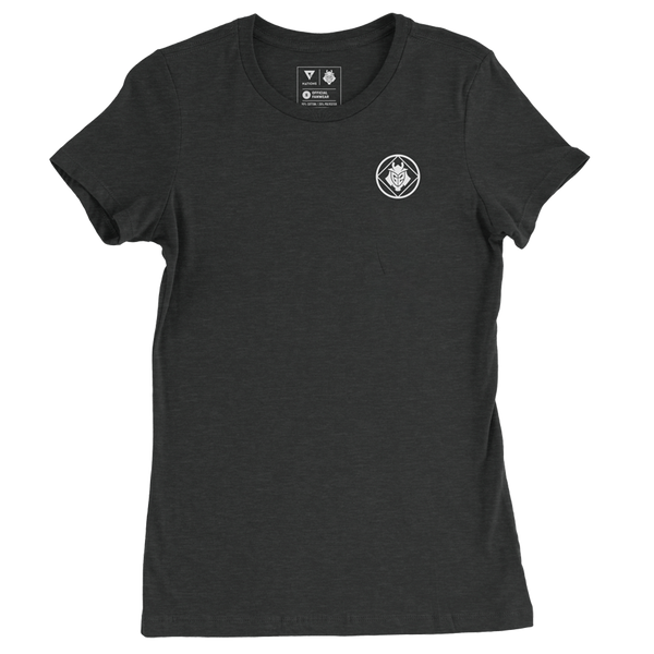 G2 Crest Womens T-Shirt - Black - G2 Esports Official EU Shop