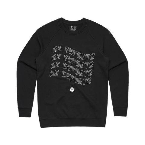 G2 Wavy Crewneck - Black - G2 Esports Official EU Shop
