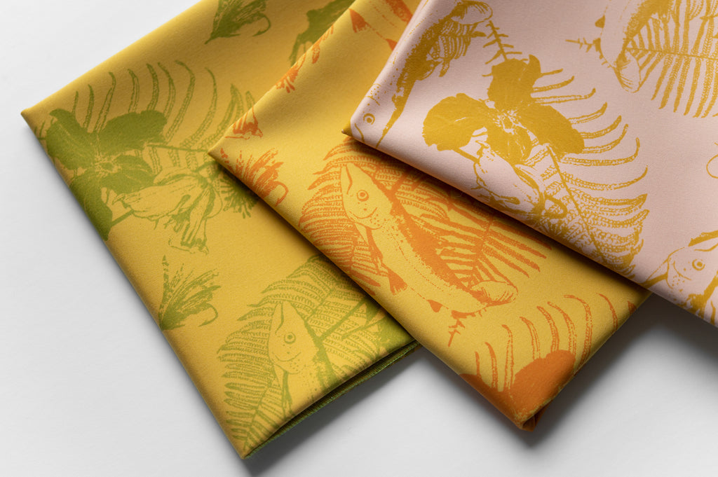 Furoshiki jaune et orange – 3 en 1