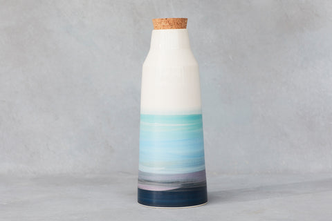 Pichet/vase bleu Saint-Laurent