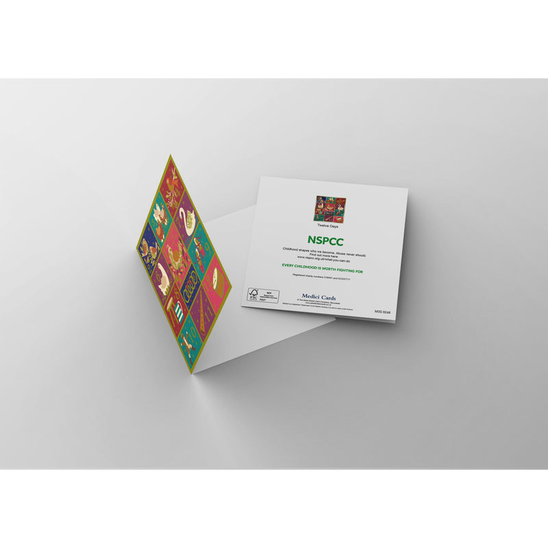 12 Days of Christmas NSPCC charity Christmas cards (10 pack)-NSPCC Shop