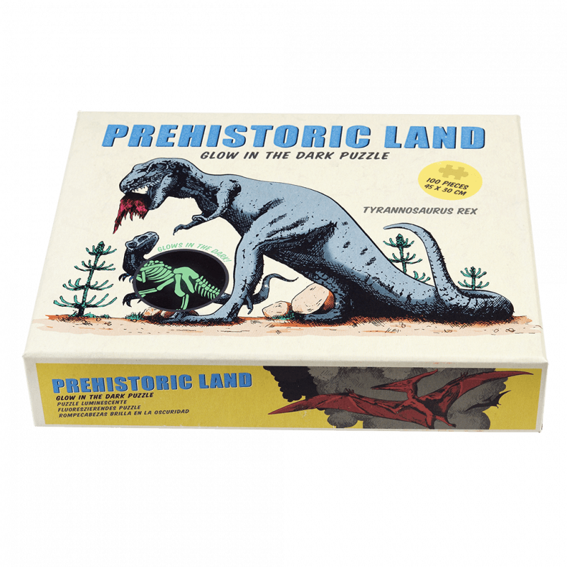 Prehistoric land glow in the dark puzzle (100 pc).