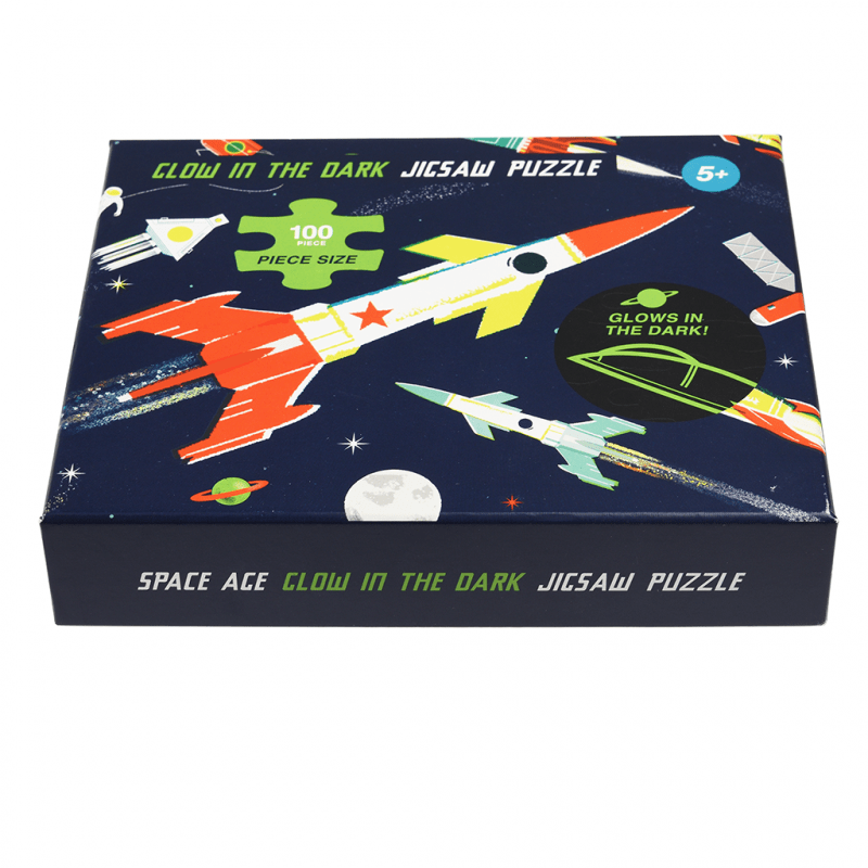 Space Age glow in the dark puzzle (100 piece).