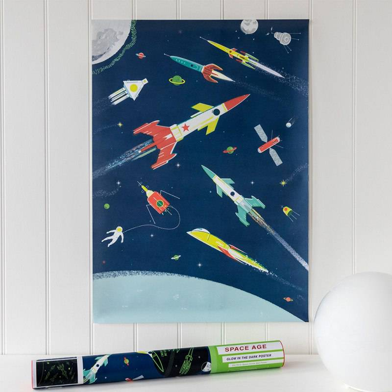 Space Age glow in the dark poster.