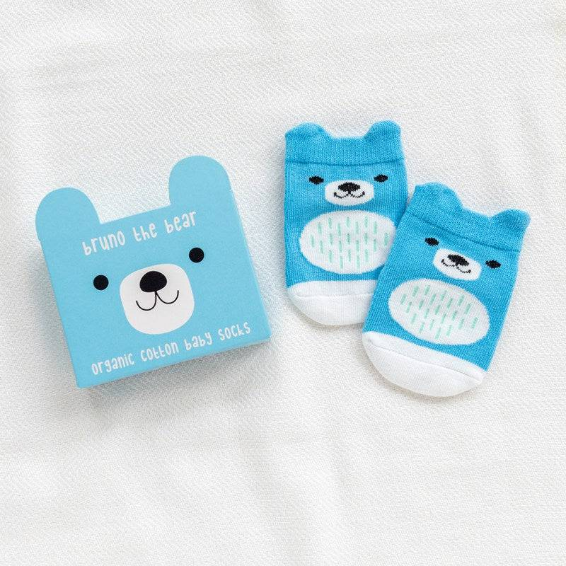 Bruno the Bear socks (one pair)