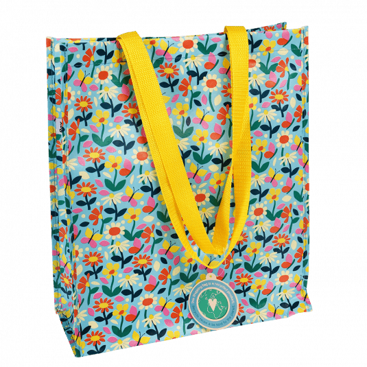 Butterfly Garden Recycled Shopping Bag.