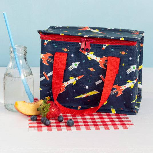 Space Age Rocket Lunch Bag