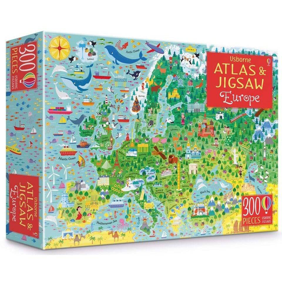 Usborne Atlas And Jigsaw: Europe