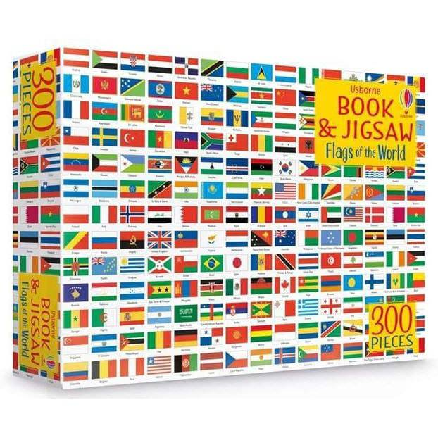 Usborne book and jigsaw: flags of the world.