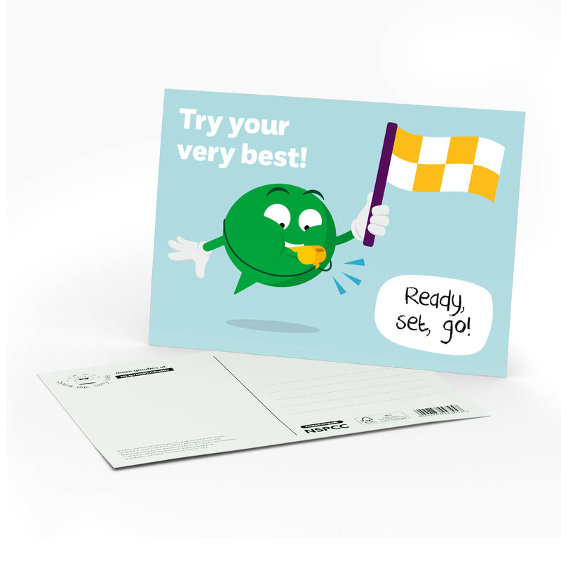 BUDDY postcard 1 - Try your very best!.