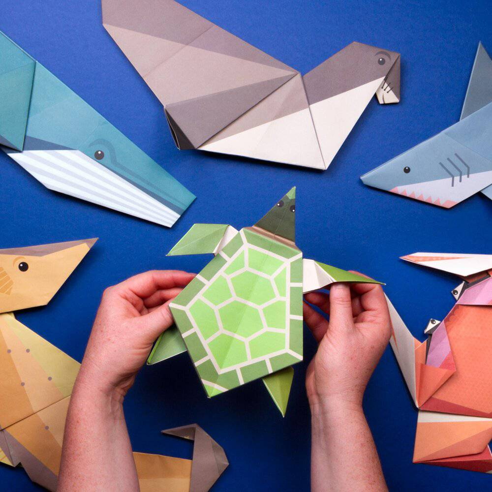 Create Your Own Giant Ocean Origami.
