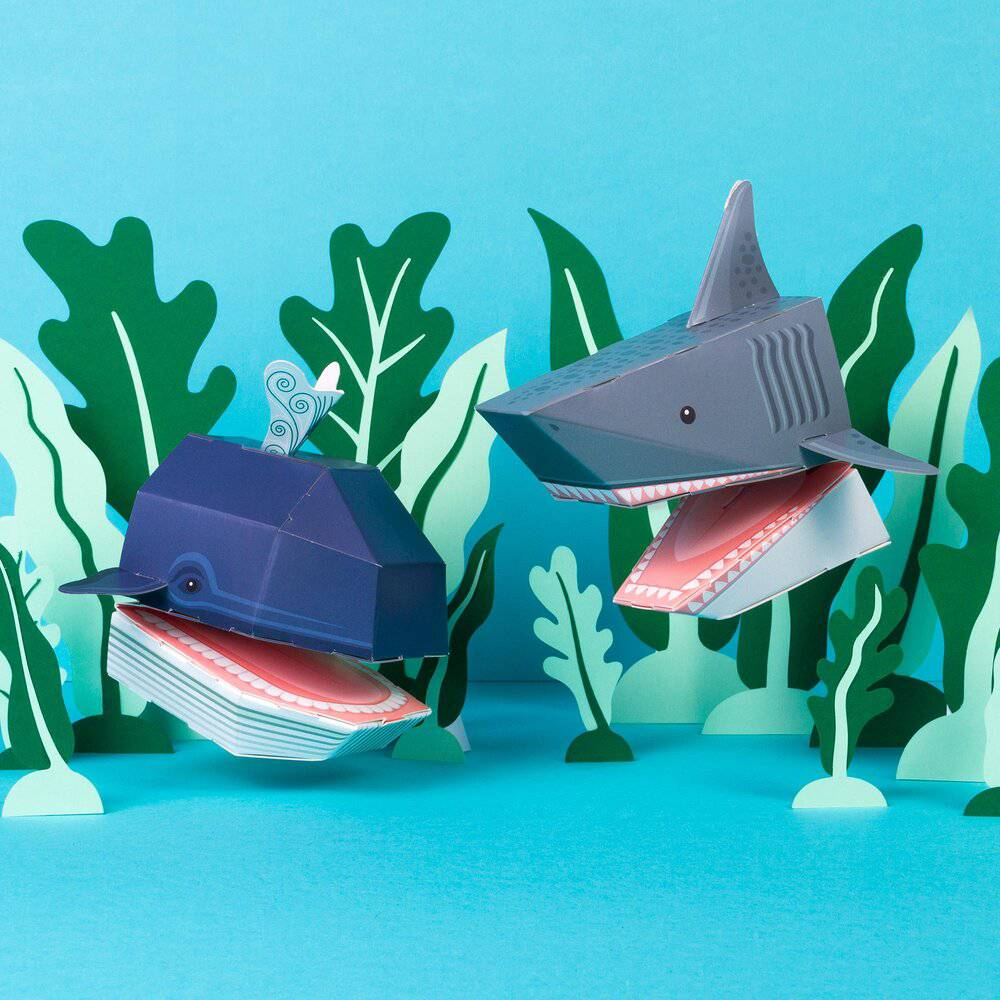 Create Your Own Ocean Puppets.