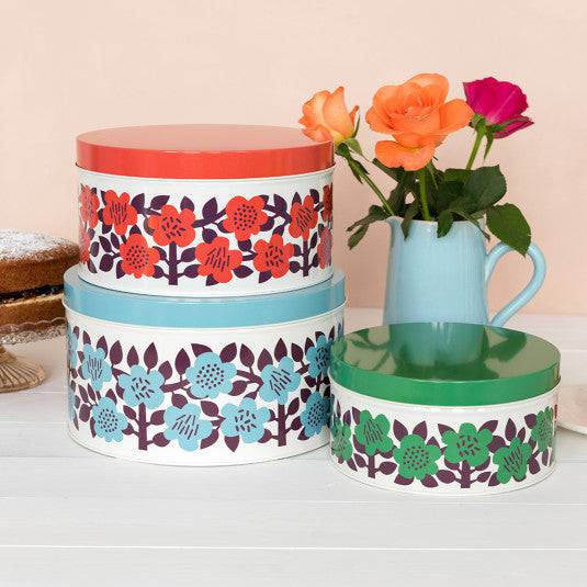 Astrid Flowers Round Tin (set of 3).