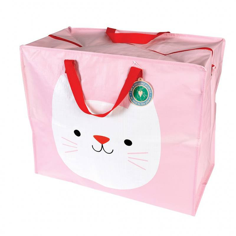 Cookie the Cat recycled plastic jumbo storage bag.