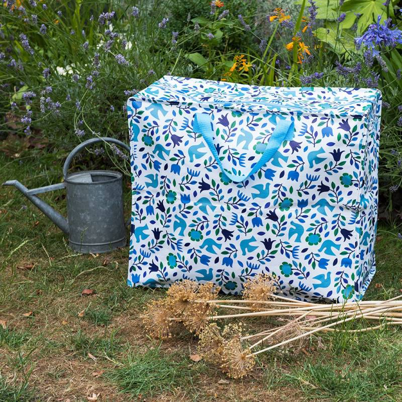 Folk doves recycled plastic jumbo storage bag.
