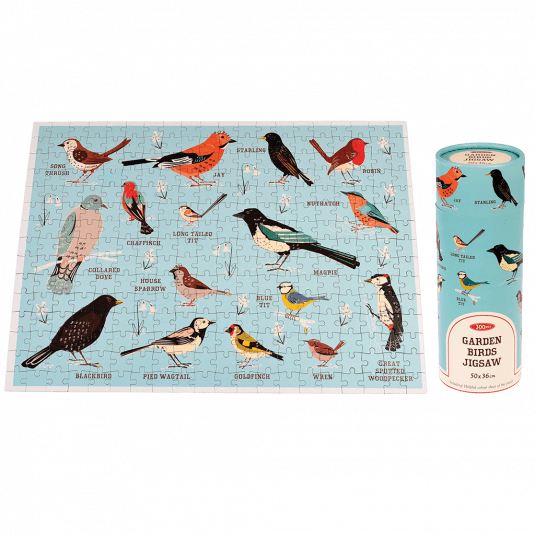 Garden Birds 300 Piece Puzzle In A Tube