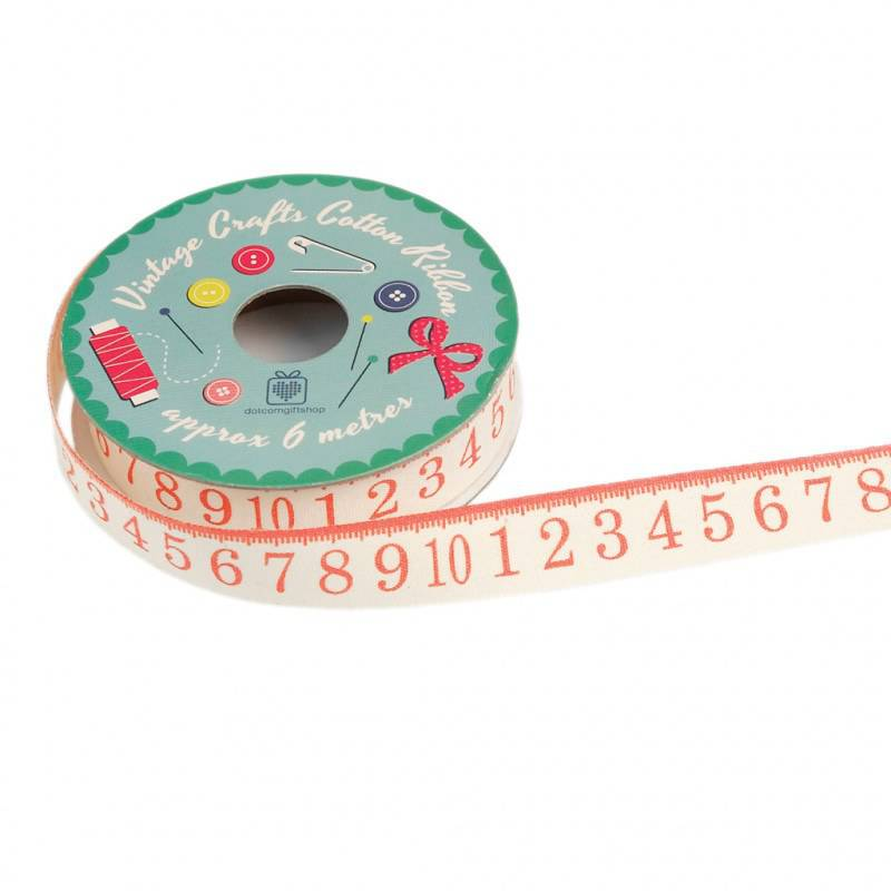 Vintage crafts ribbon tape measure.