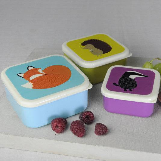 Fox and Friends Snack Boxes (Set Of 3).