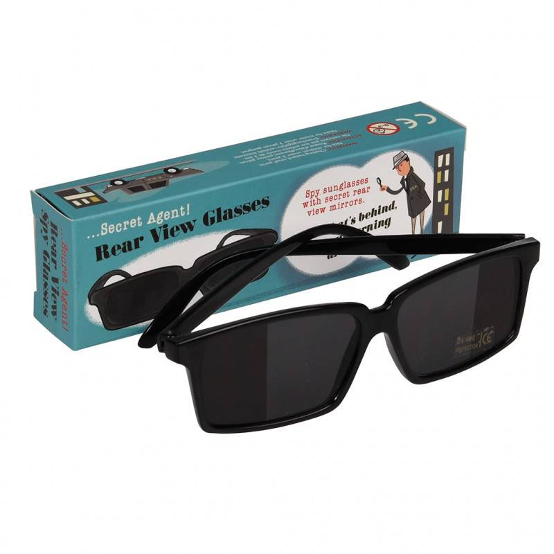 Secret Agent rear view spy glasses.