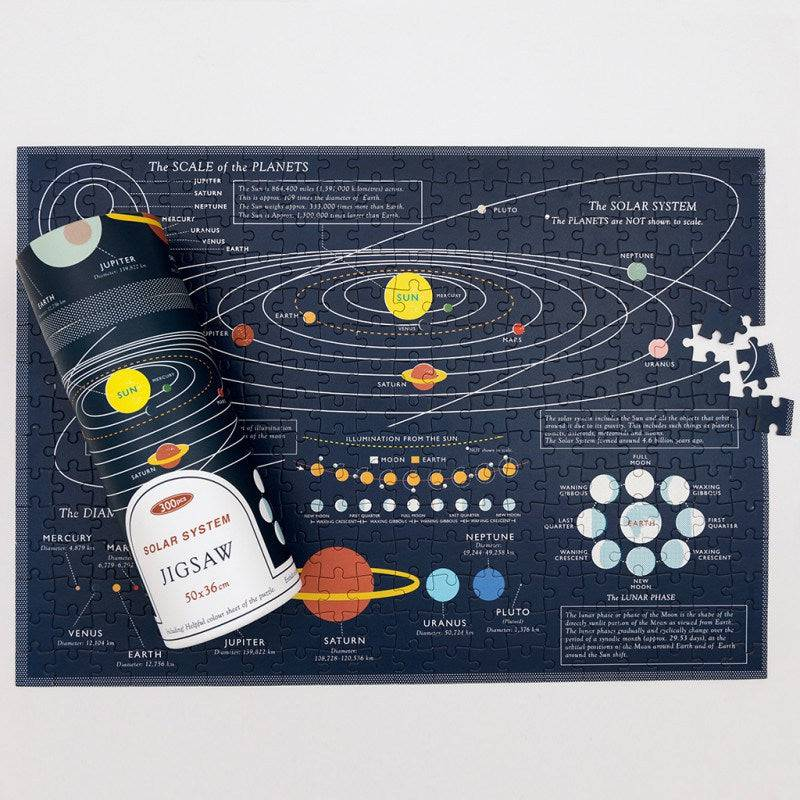 Space Age 300 piece puzzle in a tube.