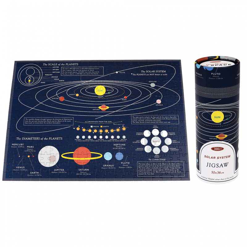 Space Age 300 piece puzzle in a tube