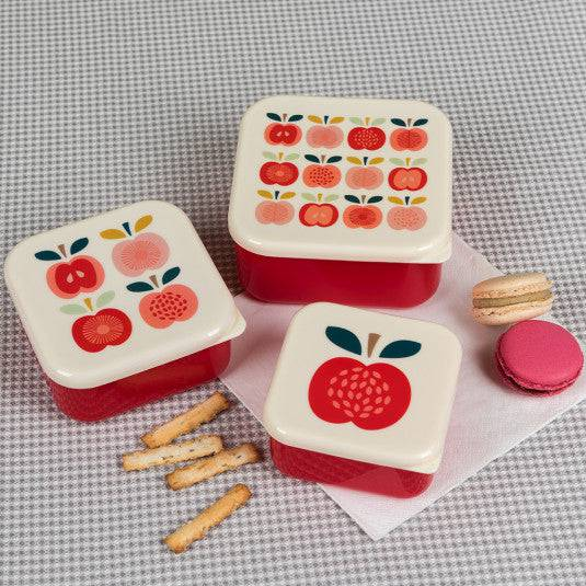 Vintage Apple Snack Boxes (Set Of 3).