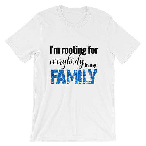 FAMILY - SHORT-SLEEVE UNISEX TEE - BLUE