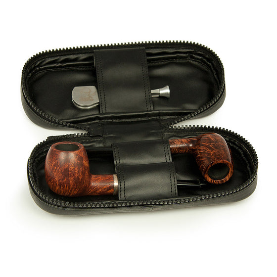 Satin Chrome Pipe Lighter - Peterson of Dublin