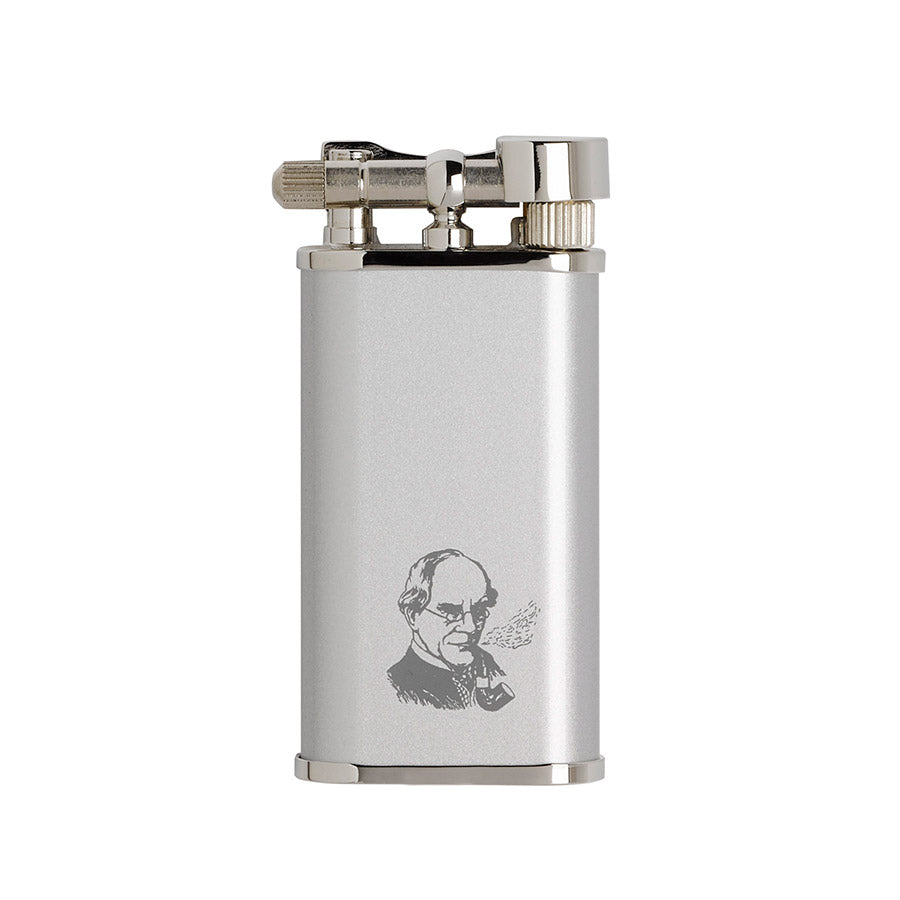 Satin Chrome Pipe Lighter Peterson Of Dublin Fuel Filters