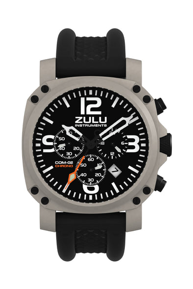 COM-02 Chronograph - Stainless - Front