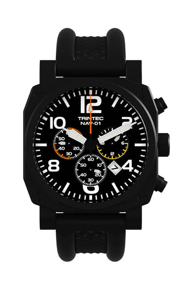 NAV-01 Chronograph / Black / Quartz (NEW) - Trintec Industries Inc.