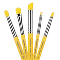 Yellow Bambu Smoky Eyes 5pc. Brush Set - Bdellium Tools