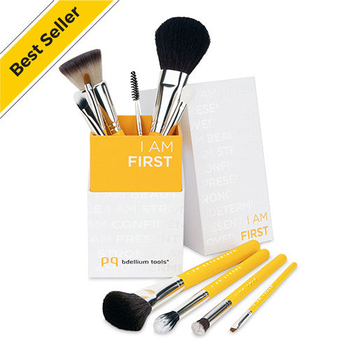 Studio Line I AM FIRST 10pc. Brush Set with Brush Holder - Bdellium Tools