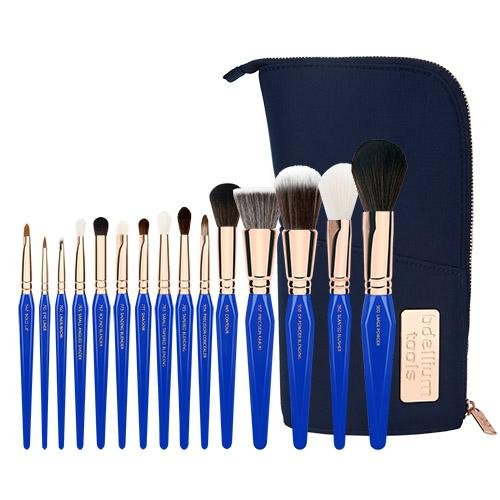 Golden Triangle PHASE I Complete 15pc. Brush Set with Pouch - Bdellium Tools