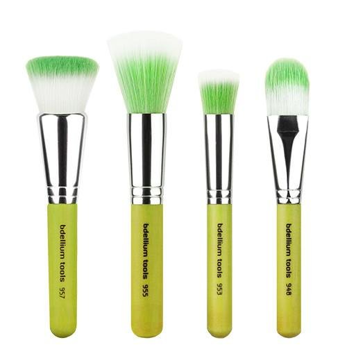 Green Bambu Foundation 4pc. Brush Set - Bdellium Tools
