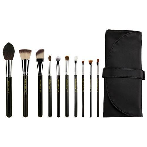 Maestro The Key Essential 10pc. Brush set with Roll-up Pouch - Bdellium Tools