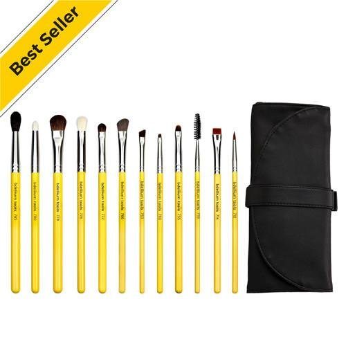 Studio Eyes 12pc. Brush Set with Roll-up Pouch - Bdellium Tools