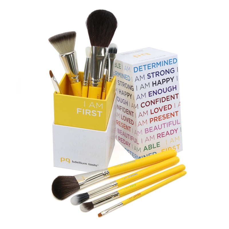 Studio I AM FIRST 10pc. Brush Set with Brush Holder (2nd Edition) - Bdellium Tools